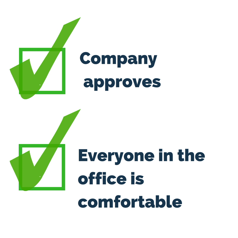 check company approves check everyone in the office is comfortable