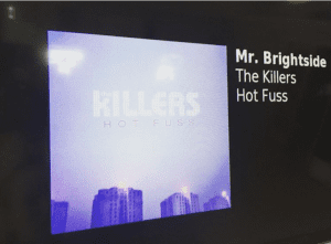 office radio station featuring the killers mr brightside