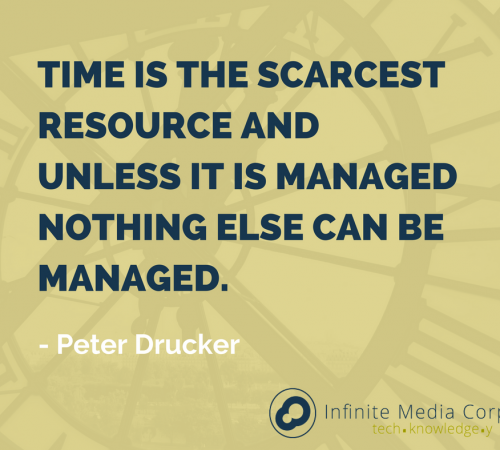 Time is the scarcest resource and unless it is managed nothing else can be managed as said by peter drucker