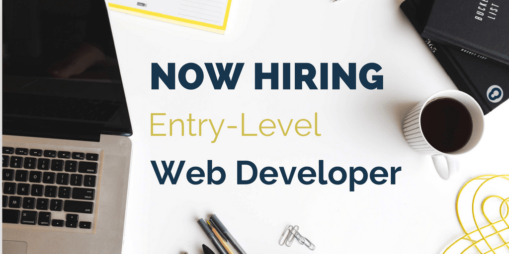 now hiring entry level web developer