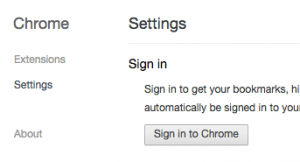 Google Chrome Settings Screen - screenshot